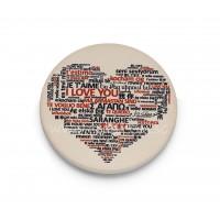 Heart with love language